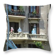 Superheroes On The Sant Joan Throw Pillow