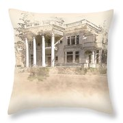 Superintendent's Home Drawing Throw Pillow