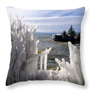 Superior Ice Formations Throw Pillow