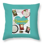 Superior Quality Basmati Rice Importers In New Zealand - Kashish Food Throw Pillow