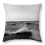 Superior Waves Throw Pillow