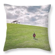 Superman And The Big Hill Throw Pillow