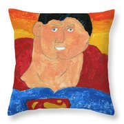 Superman Throw Pillow by Don Larison