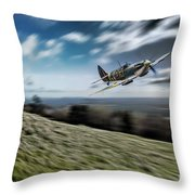 Supermarine Spitfire Fly Past Throw Pillow