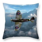Supermarine Spitfire Vb Throw Pillow