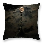 Supermoon Minaret Throw Pillow