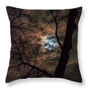 Supermoon W Tree 12-13-16 Throw Pillow