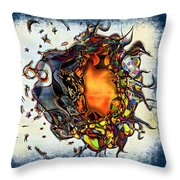 Supernova In Harlequin Throw Pillow