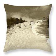 Superstar Skiing Throw Pillow