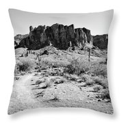 Superstition Mountain Throw Pillow
