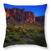 Superstition Mountain Sunset Throw Pillow