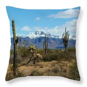 Superstition Snow Throw Pillow
