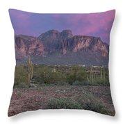 Superstition Sunset Throw Pillow
