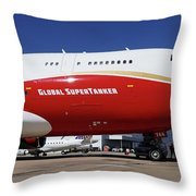 Supertanker At Colorado Springs Throw Pillow