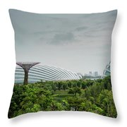 Supertrees At Gardens By The Bay Throw Pillow