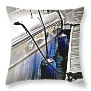 Sure-thing Boat Throw Pillow by Gwyn Newcombe