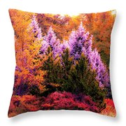 Sureal Forest Throw Pillow