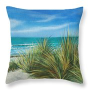 Surf Beach Throw Pillow