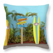 Surf Boards At Ron Jon's Throw Pillow