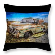 Surf City Here We Come Throw Pillow