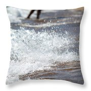 Surf Crashing Throw Pillow by Lisa Knechtel