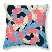 Surf Dance Throw Pillow