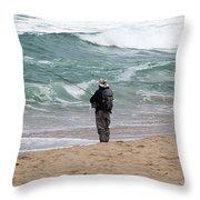 Surf Fishing Throw Pillow