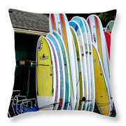 Surf Lessons Throw Pillow