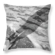 Surf Shadows Throw Pillow