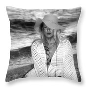 Surf Side Intrigue Throw Pillow