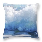 Surf Splashes Throw Pillow