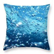 Surface Bubbles Throw Pillow