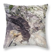 Surface Coal Mining In Poland. Destroyed Land. View From Above.  Throw Pillow