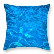 Surface Ripples Throw Pillow