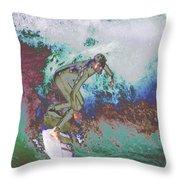 Surfer 3 Throw Pillow