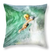Surfer 46 Throw Pillow