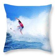 Surfer Alex Ribeiro - Nbr 3 Throw Pillow