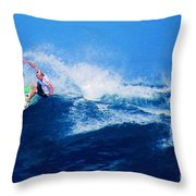 Surfer Charles Martin Nbr. 3 Throw Pillow