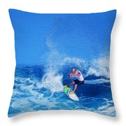 Surfer Charles Martin Throw Pillow