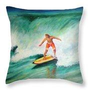 Surfer Dude Throw Pillow