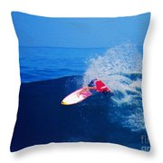 Surfer Glenn Hall - Nbr 1 Throw Pillow