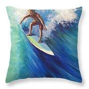 Surfer II Throw Pillow