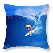 Surfer Mitch Crews Throw Pillow