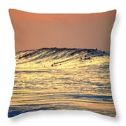 Surfers Gold Throw Pillow