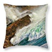 Surfers Nightmare Throw Pillow