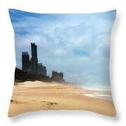 Surfers Paradise On A Stormy Day Throw Pillow