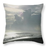 Surfer's Paradise Playa Hermosa South Of Jaco Costa Rica Throw Pillow