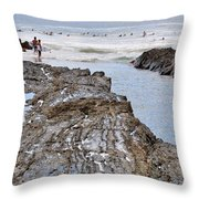 Surfers Waterways Throw Pillow