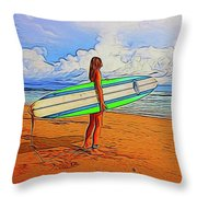 Surfing 19518 Throw Pillow