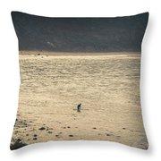 Surfing At Leo Carrillo Beach Throw Pillow